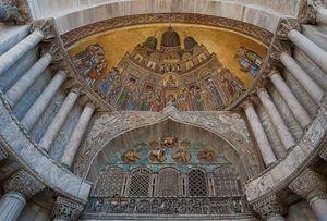 Arrivo delle reliquie di San Marco a Venezia, mosaico della Basilica San Marco