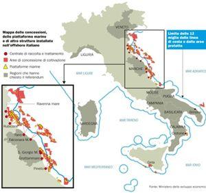 La mappa degli impianti in Italia
