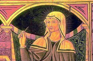 La più antica immagine conosciuta della Santa (1457)