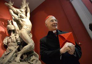 Il cardinale Angelo Bagnasco, arcivescovo di Genova. Foto Ansa.