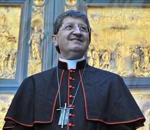 Il cardinale Giuseppe Betori, arcivescovo di Firenze. Foto Ansa.