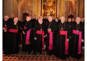 I vescovi di Inghilterra e Galles riuniti lo scorso aprile
