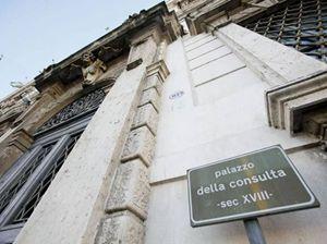 La sede della Corte Costituzionale. Foto dell'agenzia Ansa.
