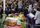 Le immagini dei funerali delle vittime dell'incidente ferroviario di Andria