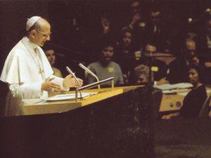 Paolo VI all'Onu il 4 ottobre 1965