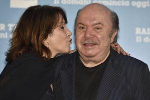 Lino Banfi con la figlia Rosanna alla presentazione a Roma dei palinsesti Rai della prossima stagione