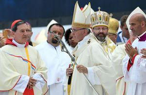 Un momento della celebrazione conclusiva di papa Francesco al Campus Misericordiae di Brzegi, vicino Cracovia, per la Gmg