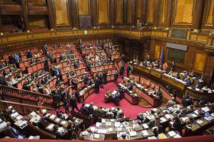 L'aula del Senato durante una seduta