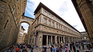 La Galleria degli Uffizi a Firenze.