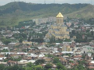 La moderna cattedrale ortodossa di Tblisi, capitale della Georgia