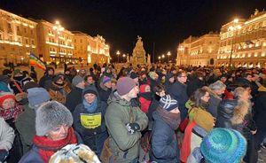 Anche a Trieste, come in diverse altre città italiane, si sono svolte manifestazioni per l'anniversario della scomparsa di Giulio Regeni.