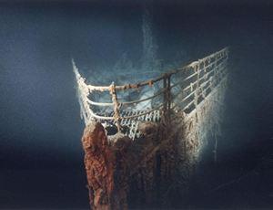 Il relitto del Titanic sul fondo dell'oceano Atlantico