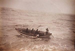 Un momento dei soccorsi ai superstiti del Titanic