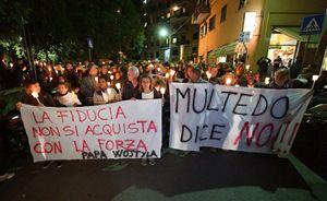 Un momento della manifestazione del 24 ottobre a Multedo