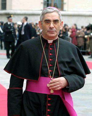 Monsignor Michele Pennisi, arcivescovo di Monreale. Foto Ansa.