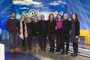 """La squadra di """"A sua immagine"""" con Lorena Bianchetti, Laura Misiti e don Gianni Epifani"""