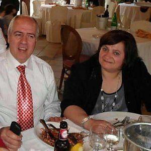 Paola Clemente col marito