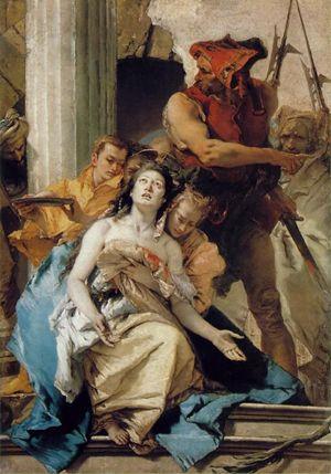 Giovanni Battista Tiepolo, Martirio di Sant'Agata, Berlino, Gemäldegalerie