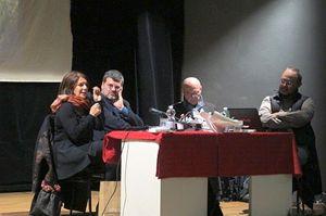 Un momento della serata dedicata al progetto #dallapartediNice (foto di Romina Gobbo). In copertina: Marveille, in primo piano, con il vestitino azzurro (foto di Francesco Cavalli).