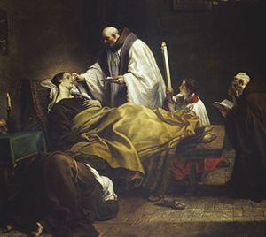 Marco Benefial: la morte di santa Margherita da Cortona.