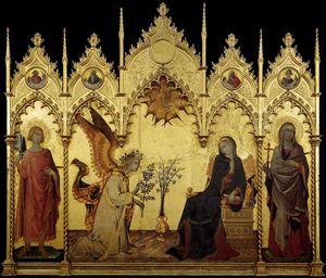 Simone Martini, Annunciazione tra i santi Ansano e Margherita, 1333