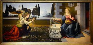Leonardo, Annunciazione, 1472-75 circa