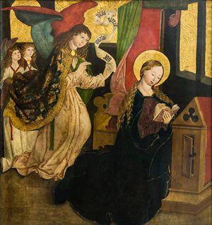 Maestro di Seitenstetten, Annunciazione, 1490 circa