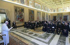 L'incontro dei convegnisti con papa Francesco nella Sala Clementina