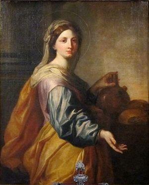 Dipinto raffigurante S.Zita di Arnould de Vuez, 1712