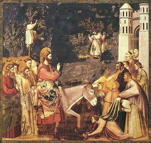 Giotto, Ingresso di Gesù a Gerusalemme, Cappella degli Scrovegni, Padova