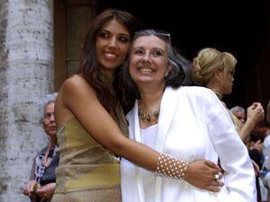 Con la figlia Lavinia
