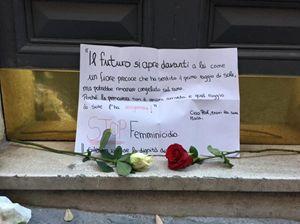 Un altro messaggio dedicato alla memoria della professoressa uccisa