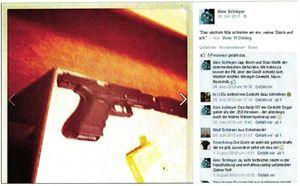 Un'immagine dal profilo Facebook dell'ex sergente della Marina tedesca Alex Schleyer.
