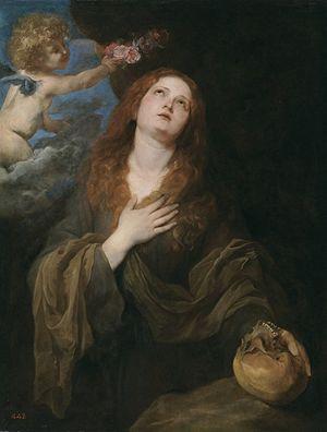 Santa Rosalia, opera di Antoon van Dyck, 1625, Museo del Prado