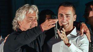 Beppe Grillo con Di Maio