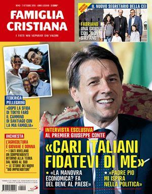 La copertina del n. 40 di FC, in edicola da domani 4 ottobre: sulle pagine della rivista, l'intervista integrale con il premier