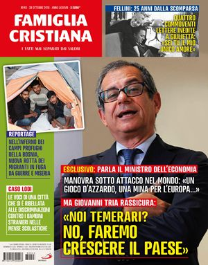 La copertina del prossimo numero di Famiglia Cristiana in edicola da giovedì 25 ottobre.