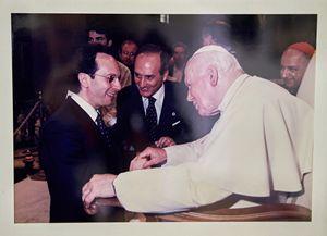 Il dottor De Franciscis con Giovanni Paolo II