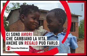 La locandina di Save The Children per San Valentino.