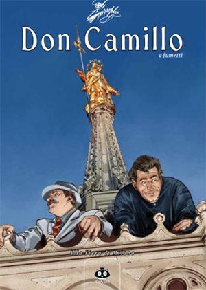 """La copertina del n. 15, """"Alla fiera di Milano"""", dove i due protagonisti si avventurano per la prima volta nella grande città tanto cara a Guareschi (vi ambientò il suo primo romanzo, La scoperta di Milano, 1941)"""