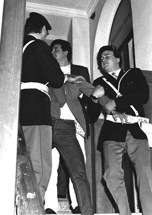 """L'arresto di Pietro De Negri detto """"il canaro"""" e autore dell'omicidio di Giancarlo Ricci."""