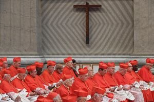 I cardinali al Concistoro presieduto da papa Francesco nella Basilica di San Pietro
