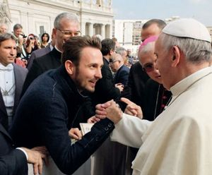Francesco Lorenzi con papa Francesco