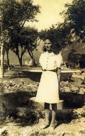 Liliana Segre a 13 anni nel luglio 1943, cinque mesi prima la deportazione ad Auschwitz