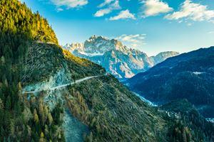 Boschi abbattuti in Dolomiti (Foto Manfred Bortoli)