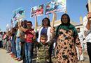 Siria, è iniziata la fuga dei civili dai bombardamenti