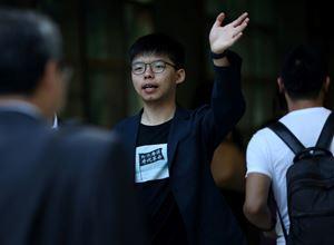 L'attivsta pro-democrazia Joshua Wong, 23 anni, leader delle proteste