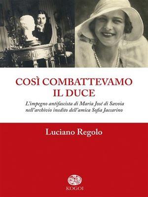 La copertina del libro di Luciano Regolo.