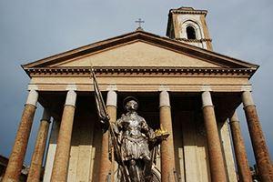 La Basilica di San Venanzio, a Camerino, in provincia di Macerata. Foto don Luigi, per gentile concessione.