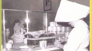 Una foto d'epoca del Dispensario di Santa Marta.
